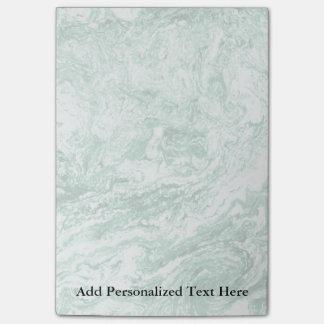 Post-it® Blanc vert abstrait marbré de la conception |
