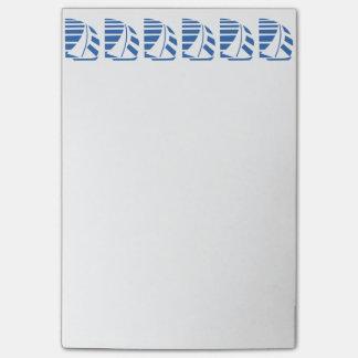 Post-it® Bleu emballant les notes collantes de voiliers