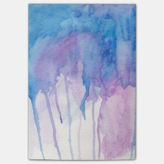 Post-it® Bloc - notes bleu et pourpre de l'aquarelle |