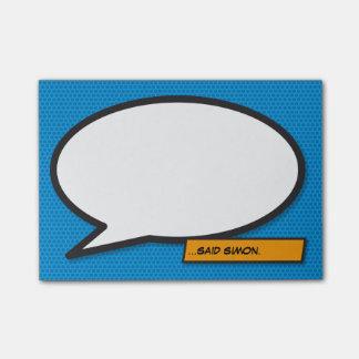 Post-it® Bulle de la parole d'art de bruit de bande