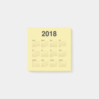 Post-it® Calendrier 2018