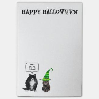 Post-it® Chat grincheux de Halloween/Courrier--Notes