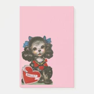Post-it® Chiot vintage de Valentine