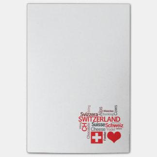 Post-it® Choses suisses préférées - amour Suisse d'I