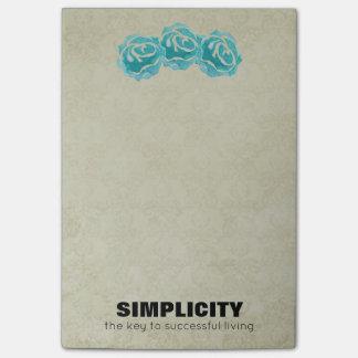 Post-it® Citation de typographie de simplicité avec les