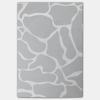 Post-it® Copie noire et gris-clair de girafe