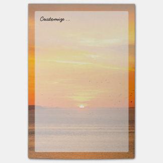 Post-it® Côte de coucher du soleil avec Sun orange et