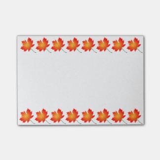 Post-it® Courrier--Notes de feuille d'automne