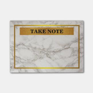 Post-it® De marbre personnalisés prennent la note avec la