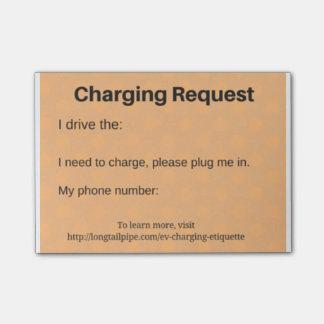 Post-it® Demande de remplissage de voiture électrique