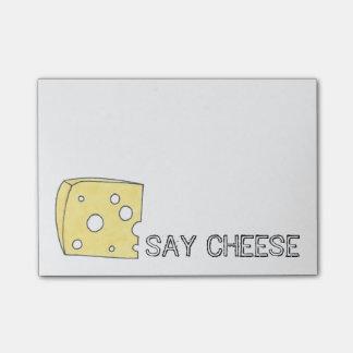 Post-it® Dites les post-its de fin gourmet de fromage