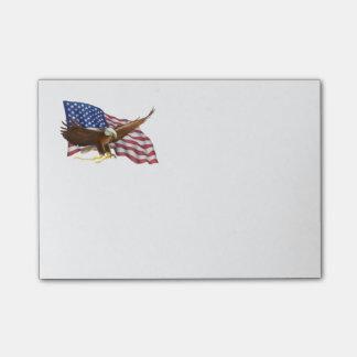 Post-it® Drapeau américain et Eagle