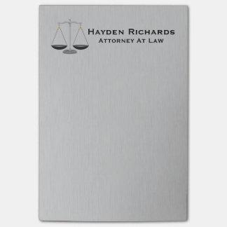 Post-it® Échelles de justice de mandataire d'avocat