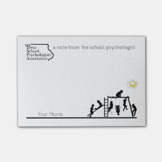 Post-it® École ensoleillée Psych de l'Iowa de cieux. Assoc.