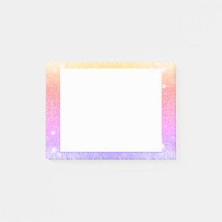 Post-it® Étincelle de scintillement d'or de lavande de rose