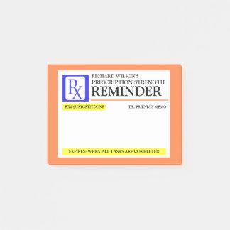 Post-it® Étiquette drôle de prescription