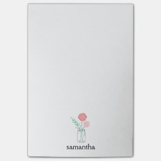 Post-it® Fleurs botaniques de pot de maçon personnalisées