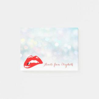 Post-it® Girly élégant chic élégant, lèvres de rouge de
