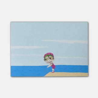Post-it® Grand nageur observé des années 1930 vintages de