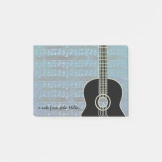 Post-it® Guitare de notes bleues