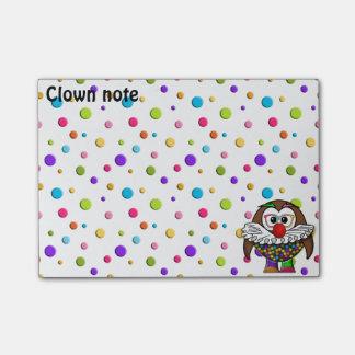 Post-it® hibou de clown