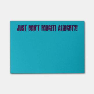 Post-it® Juste n'oubliez pas ! Notes de post-it