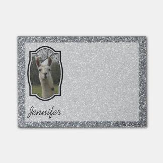 Post-it® Lama lumineux de scintillement de N en argent