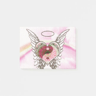 Post-it® L'ange de coeur de Yin Yang s'envole l'aquarelle