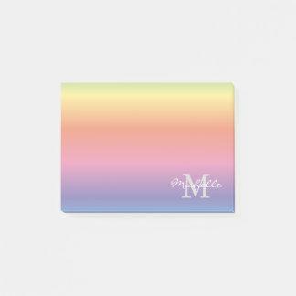 Post-it® L'arc-en-ciel en pastel coloré colore le