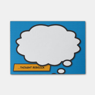 Post-it® L'art de bruit de bande dessinée pensent la bulle