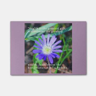Post-it® Le Courrier-it® inspiré floral pourpre note 4 x 3