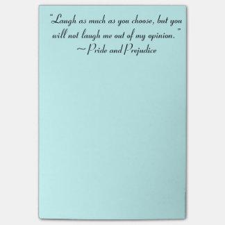 Post-it® Le rire autant que vous choisissent Jane Austen