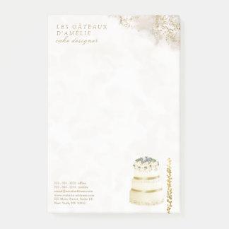 Post-it® Marbre d'or de boulangerie de concepteur de gâteau