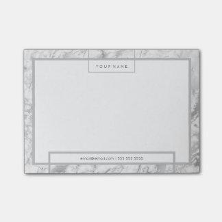 Post-it® Marbre gris turquoise blanc minimal de luxe de