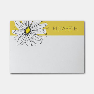 Post-it® Marguerite lunatique jaune et blanche avec le
