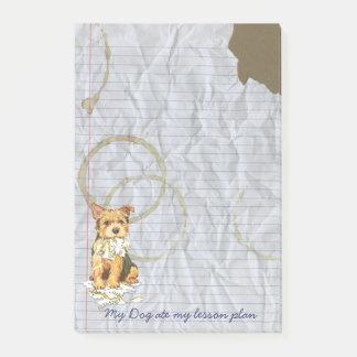 Post-it® Mon Norwich Terrier a mangé mon plan de cours