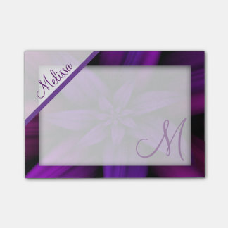 Post-it® Monogramme floral de passion pourpre