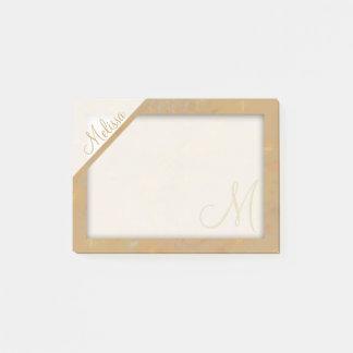 Post-it® Monogramme texturisé beige