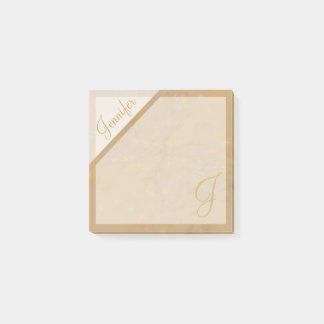 Post-it® Monogramme texturisé de confettis beiges