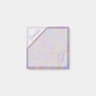 Post-it® Monogramme texturisé de confettis pourpres