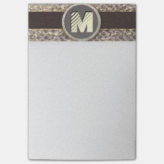 Post-it® Motif élégant de scintillement de monogramme