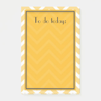 Post-it® Motif jaune de Chevron pour faire la liste