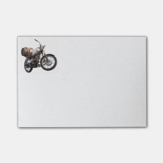 Post-it® Motocyclette avec un baril de vin