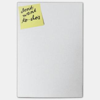 Post-it® Ne voulez pas la liste de remue-ménage