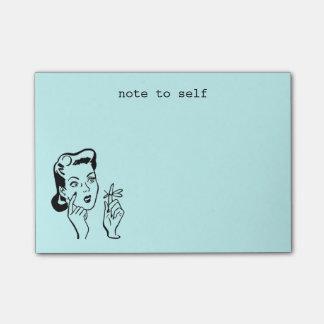 Post-it® Note drôle de femme au foyer d'Aqua rétro à