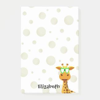 Post-it® Notes avec une girafe