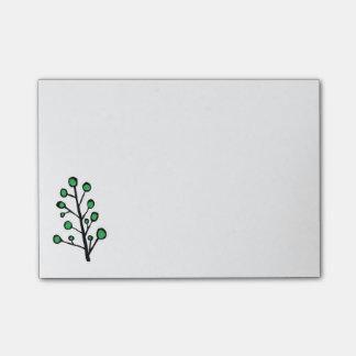 Post-it® Notes collantes d'arbre vert de point