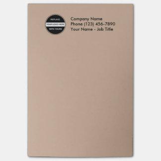 Post-it® Notes collantes de bureau de logo d'affaires