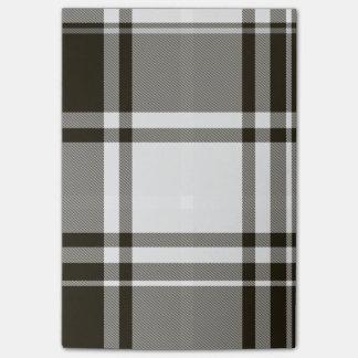 Post-it® Notes de post-it blanches noires de plaid