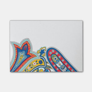Post-it® Notes de post-it bleues de Paisley